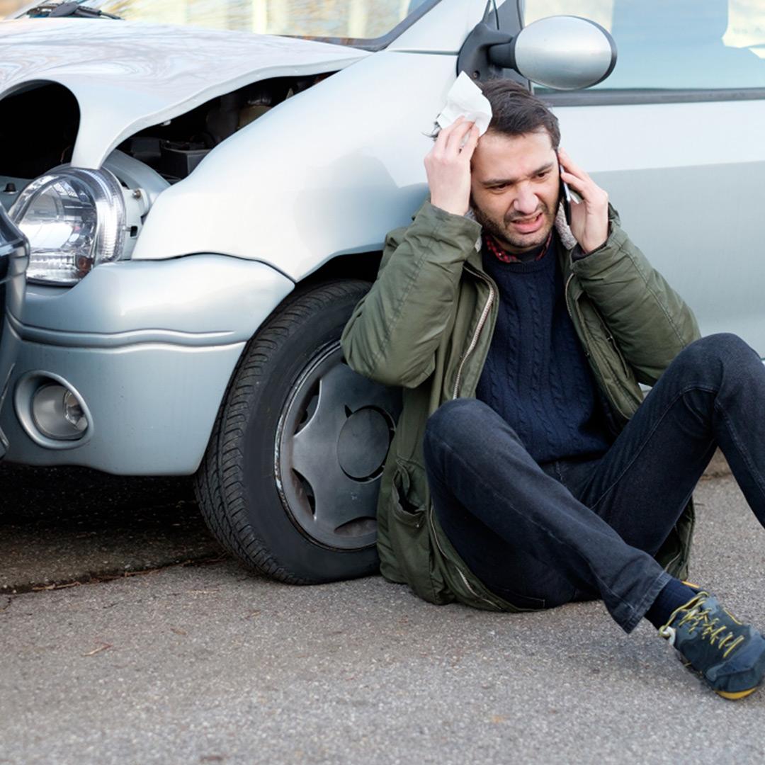 man hurt after car accident